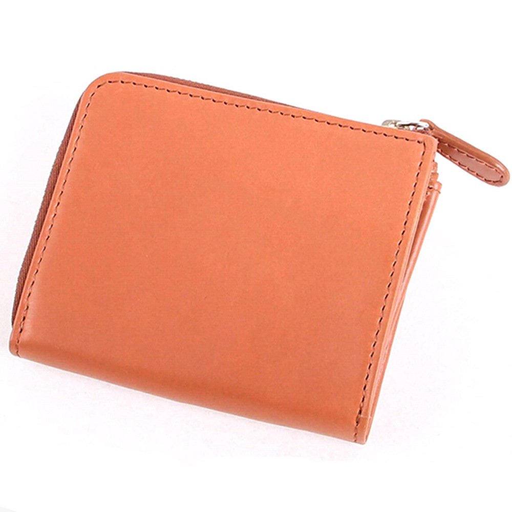 Men's Women's Genuine Leather Purse Japanese Style Zipper Wallet Tree Paste Cowhide Multi-functional Coin Wallet