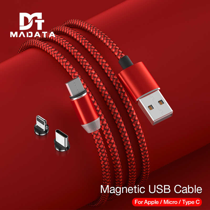 MADATA Magnetic Cable LED Micro usb Type C Magnetic usb Charging Cable For iPhone 11 X 7 8 XS Max XR Huawei Samsung xiaomi LG