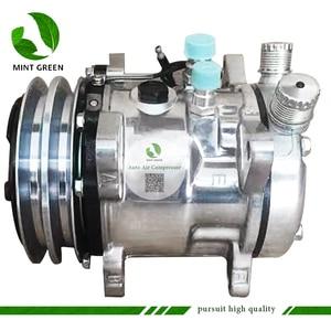 Image 4 - Sanden 505 SD505 5h14 Auto AC Compressor for Tractor Excavator Heavy Duty Truck 12V / 24V 2 Groove V Blet Pulley