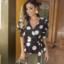 Summer 2020 Women's Puff Sleeve Polka Dots Vintage