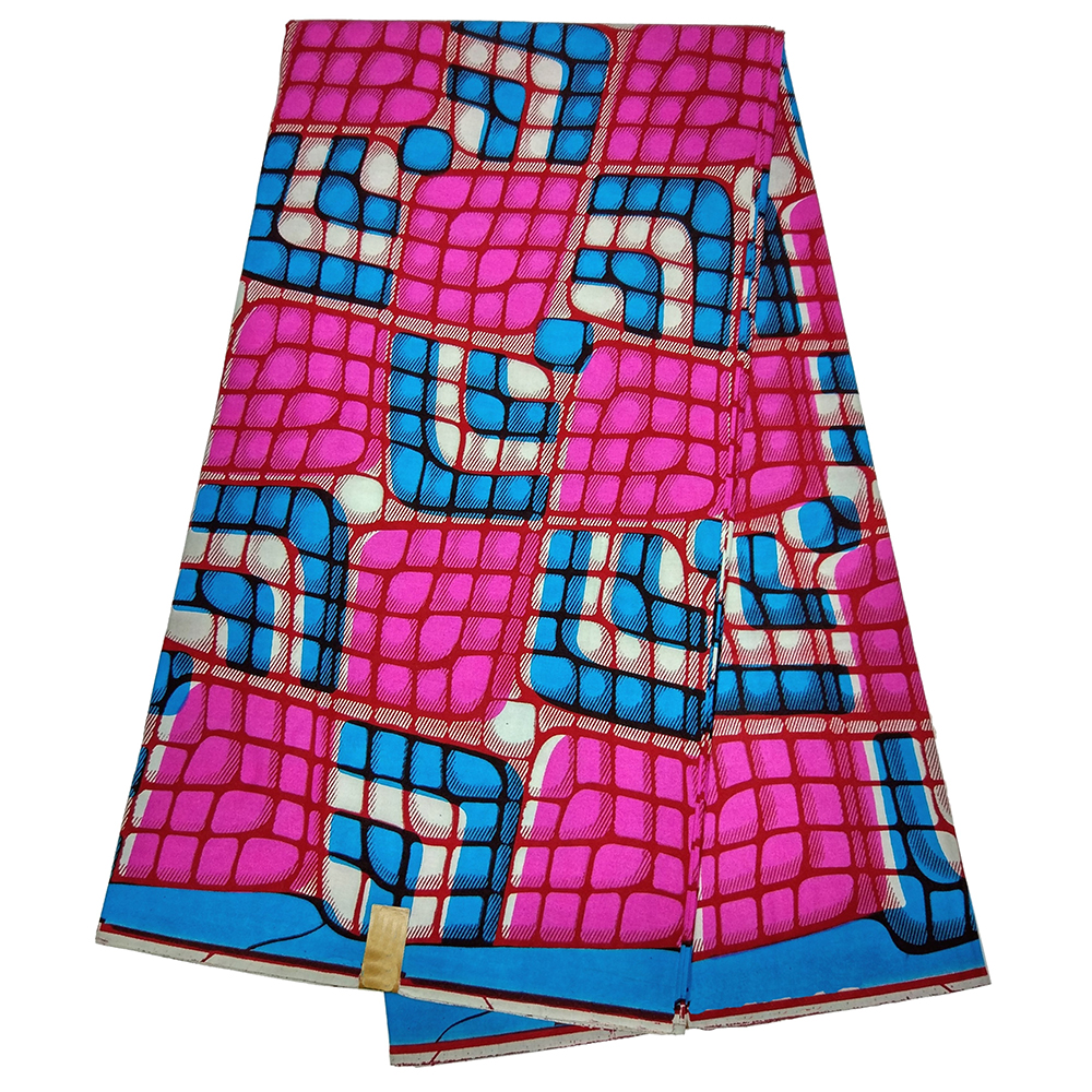 Top Quality 100% Cotton Ankara African Wax Prints Fabric Real Dutch Wax 6yards Fashion Fabric For Party Dress