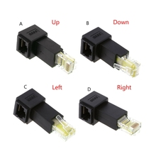 Multi angle RJ45 Cat 5e Male to Female Lan Ethernet Network Extension Adapter Up/Down/Right/Left Angled Whosale&Dropship