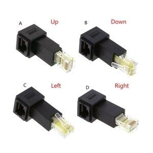 Image 1 - רב זווית RJ45 חתול 5e זכר לנקבה Lan Ethernet רשת הארכת מתאם למעלה/למטה/ימינה/שמאל בזווית Whosale & Dropship