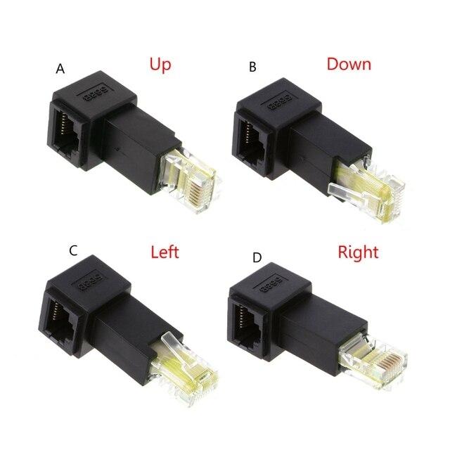 רב זווית RJ45 חתול 5e זכר לנקבה Lan Ethernet רשת הארכת מתאם למעלה/למטה/ימינה/שמאל בזווית Whosale & Dropship