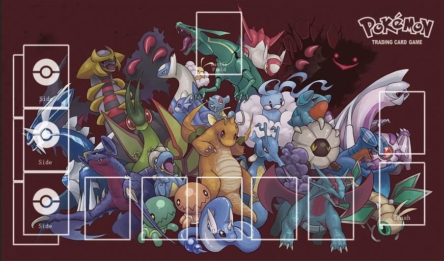Takara Tomy PTCG Accessories Pokemon Playmat Card Table Game Dragon Monster Toys For Children