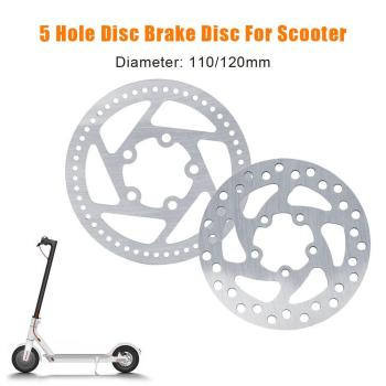 Electric Scooter Disc Brake Disc 5 Holes 110mm 120mm Brake Disc Rear Wheel Disc Rear Disc Brake Disc for Xiaomi Mijia M365 image