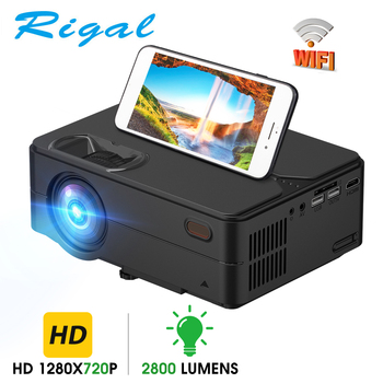 Rigal RD813 Mini Projector 1280 x 720P WiFi Multi Screen Projector Home Theater Proyector 3D Movie HD Projector Support 1080P