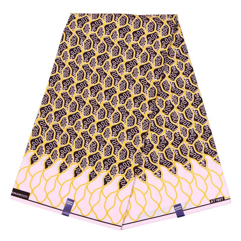 2019 African Dutch Wax New Design Fabric Yellow Printed Pagnes African Veritable Guaranteed Wax Printed Fabric