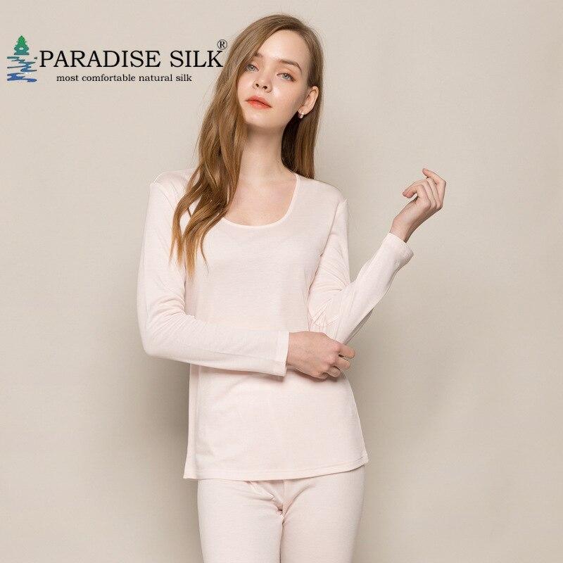 Wool Silk Blend Womens Underwear Long Johns Top And Bottom Set Autumn Winter Underwear Set Size M L XL XXL