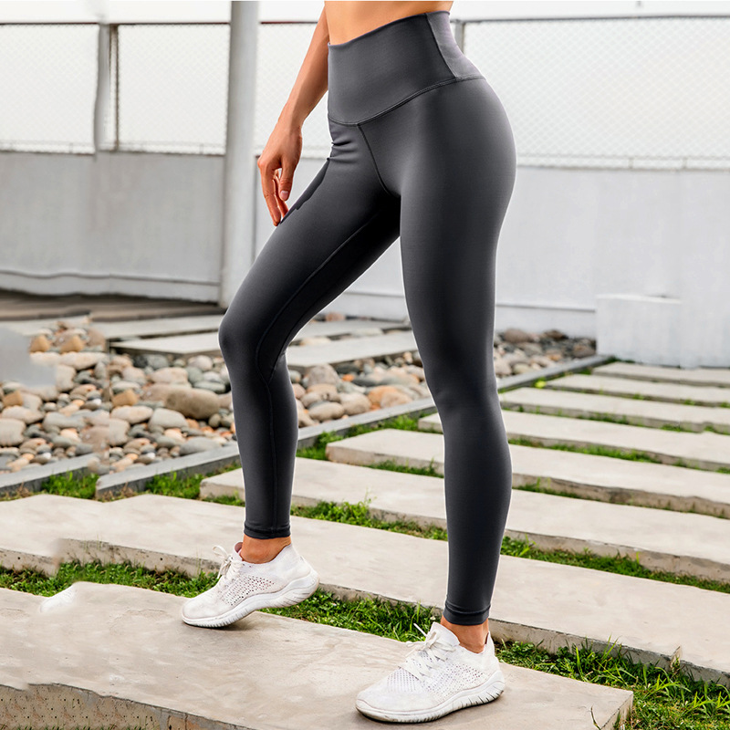 2019 New Style Double-Sided Chinlon Peach Hip Fitness Pants LULU Celebrity Style Bare Sense Yoga Pants Running Athletic Pants