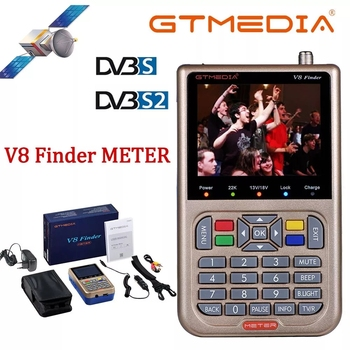 GTMedia V8 Finder Meter Satellite DVB S2X Combo Sat Dvb S2 Receiver Satfinder 3.5Color LCD Screen