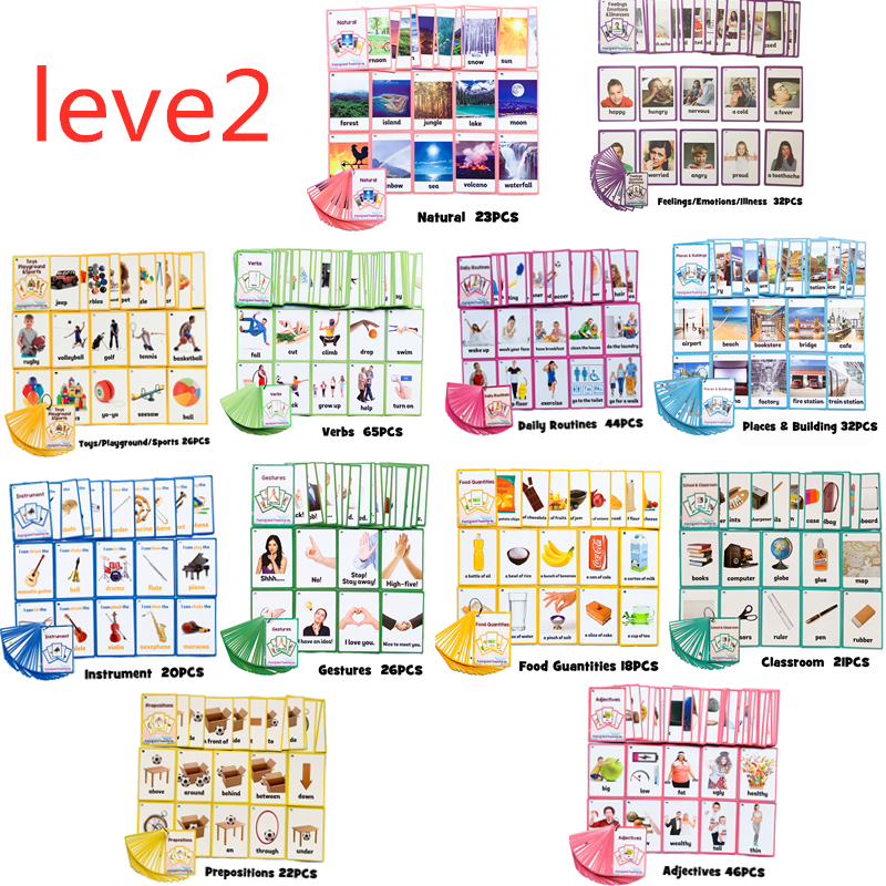 26 Categories 760 Cards Kids Learn English Word Card Juguetes Educativos Children Educational Toys For Kids Early Learning Toy