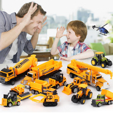 Children Engineering Environmental Protection City Fire Series Alloy Car Model Set Engineering Vehicle Model Set Birthday Gifts cheap Other 3 years old lxm-41 4 5cm*4 5cm*33 5cm slide