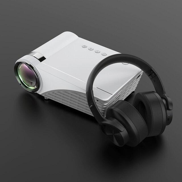Blitzwolf BW-VP8 wi fi projetor 5500lumens lcd led elenco tela buetooth fone de ouvido som sem fio telefone mesma tela cheia hd 1080p 5