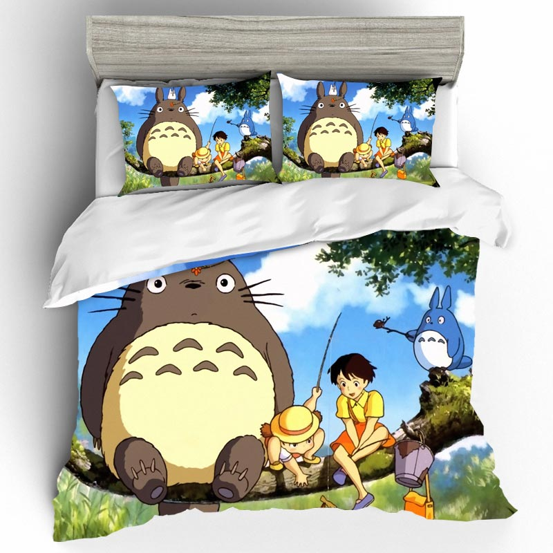 Bed Linen Cotton Set Cartoon Edredones Y Conjuntos De Ropa De Cama Bed Sheets Set Bedding Sets Sheets Queen Size