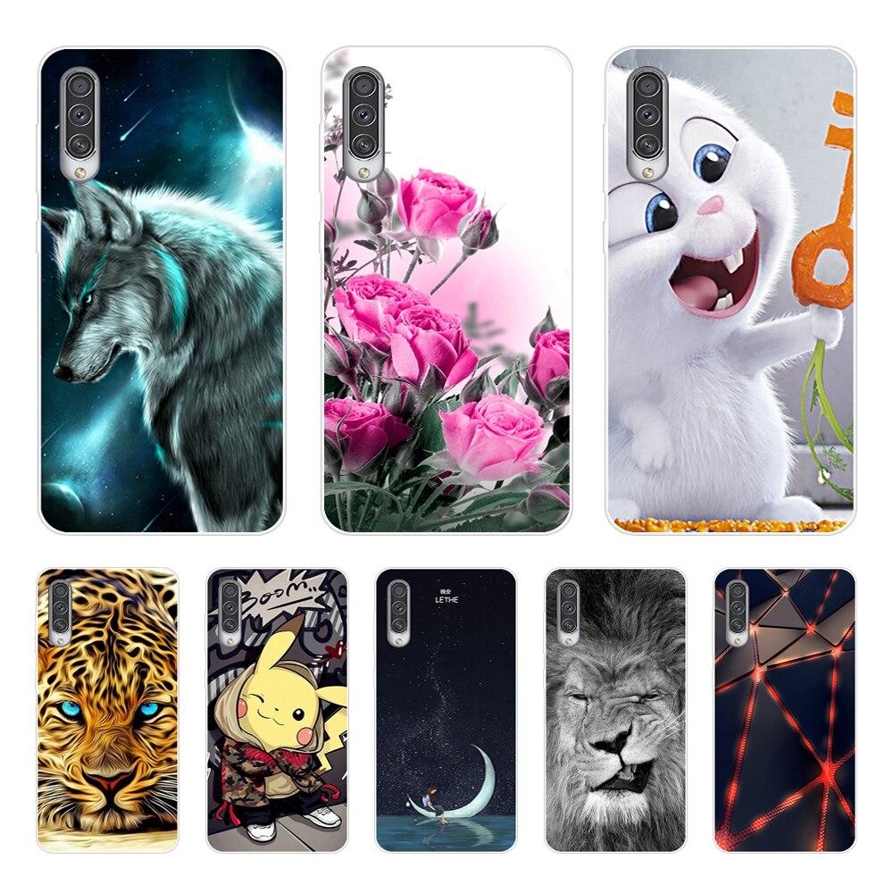 D 6.4'' For Samsung A50 Case 2019 Silicone Soft TPU Phone Case For Coque Samsung Galaxy A50s A30S Case Cover A505F A505 A 50
