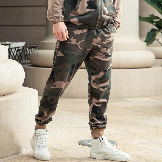 Men Sets Camouflage Casual Tracksuit 2020  6