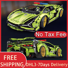 2021 MOC Car 3962Pcs Technical Lamborghinis Sian Building Blocks Super Racing Model Gift For Boyfriend Bricks Kids Birthday Gift