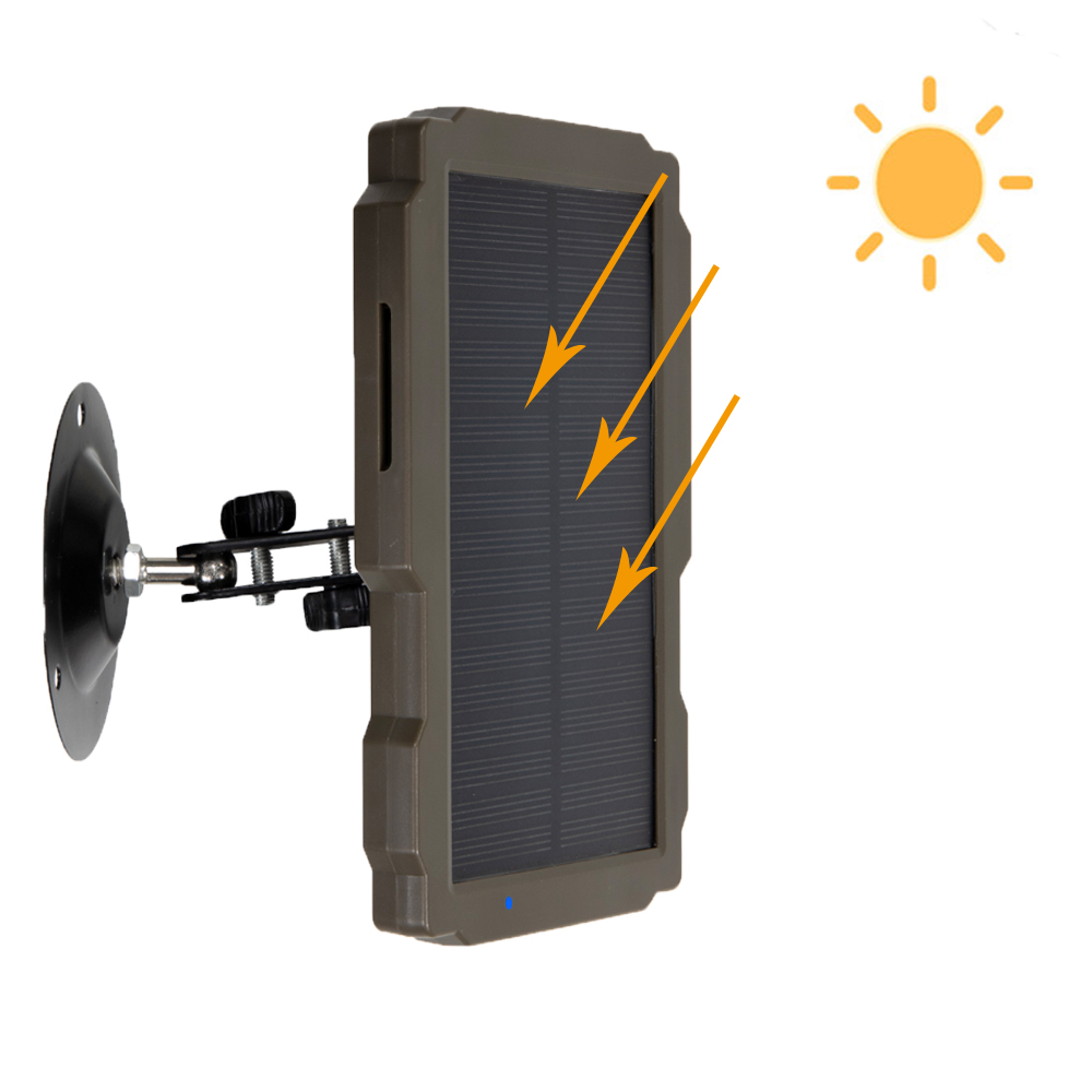 New Outdoor Solar Panel 5000mA 12V Solar Power Supply Charger Battery For Suntek 9V HC900 HC801 HC700 HC550 HC300 Trail Camera