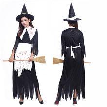 Костюм на Хэллоуин для женщин и взрослых; Одежда ведьмы; Платье