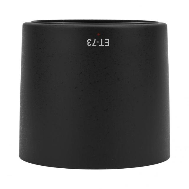 Capa da lente ET 73 plástico preto câmera montagem da lente capa apto para canon ef 100mm f/2.8l macro é usm lente câmera len parte dslr