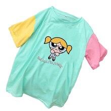 Cotton Tshirt Short-Sleeve Print-Tops Korean Clothes Girls Harajuku Kawaii Casual Cartoon