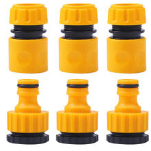 """6 Pcs ABS Garden Quick Hose Connector 1/2"""" End Double Male Hose Coupling Joint Adapter Extender Set For Hose Pipe Tube"""