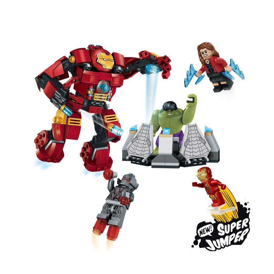7110 Compatible With Legoinglys Marvel Super Heroes Avengers Building Blocks Figures Iron Man Hulk Buster Bricks Toys