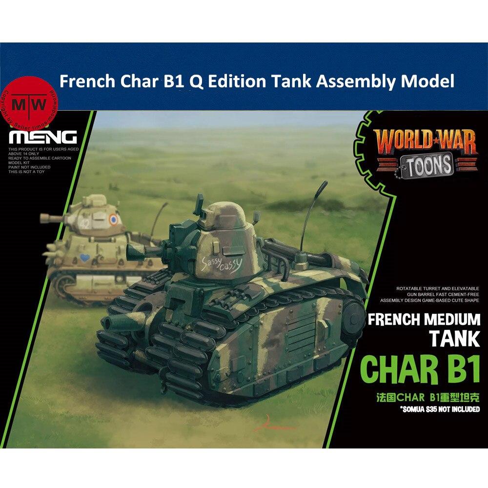Meng Kids WWT-016 French Char B1 Tank Q Edition Plastic Assembly Model Kits
