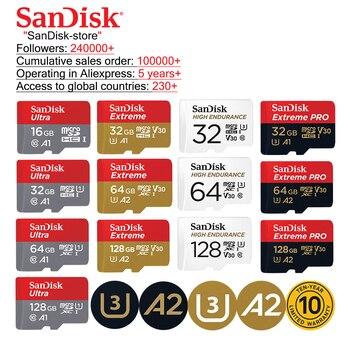 SanDisk 100% Original A1A2 Microsd TF card Class10 16GB 32gb Micro SD card 64gb 128GB memory card Video card  sd card u3  memory