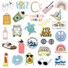 35Pcs/pack VSCO Vinyl Stickers Girl Essential Stuff for Water Bottles Stickers Suitable for Photo Luggage Laptop Trendy Stickers