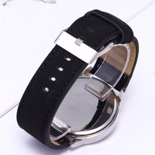 Large Dial Quartz Leather Business Casual Wristwatch 6