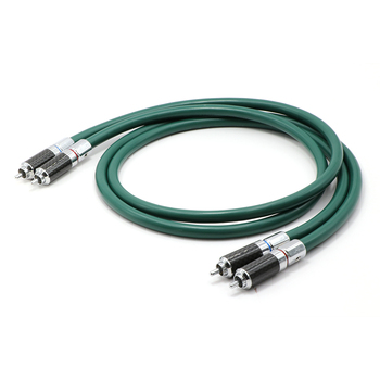 Paar FA-220 PHOCC Einzelnen kupfer interconnect kabel mit carbon fiber RCA stecker stecker