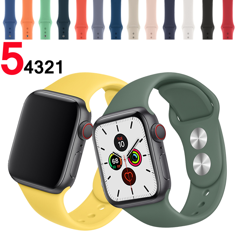 Strap For Apple Watch Band 5 4 44mm 40mm Silicone Sport Correa Iwatch 4 3 2 42mm 38mm Bracelet Pulseira Aple Watch Accessories