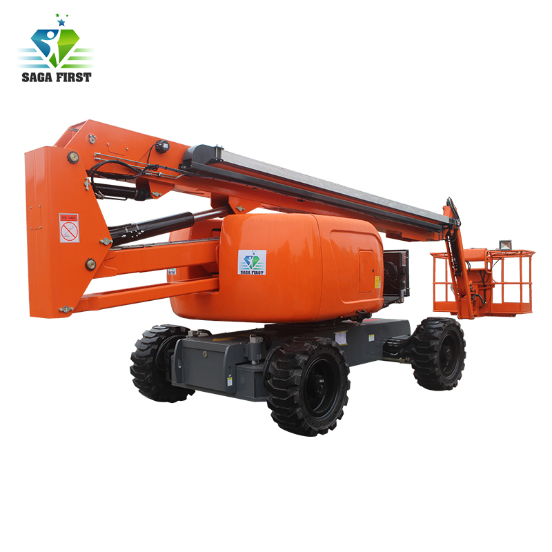 Four Wheel Driving Spider Boom Lift Self Propelled Boom Lift