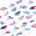 1 шт. листья цветы чернила цветущие наклейки для ногтей 3D Геометрические линии переводки летние DIY слайдер для маникюра Нейл арт водяные зна...