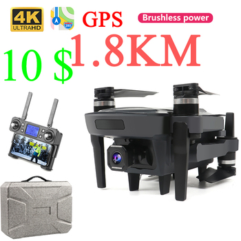 Drone 4k 1800 Meter Gps Profissional Brushless Mini Drones With Camera Hd Selfie Long Range Battery Life Rc Drone 4k Gps Gesture with an extra battery original zerotech dobby pocket selfie drone fpv with 4k hd camera gps mini rc quadcopter drone