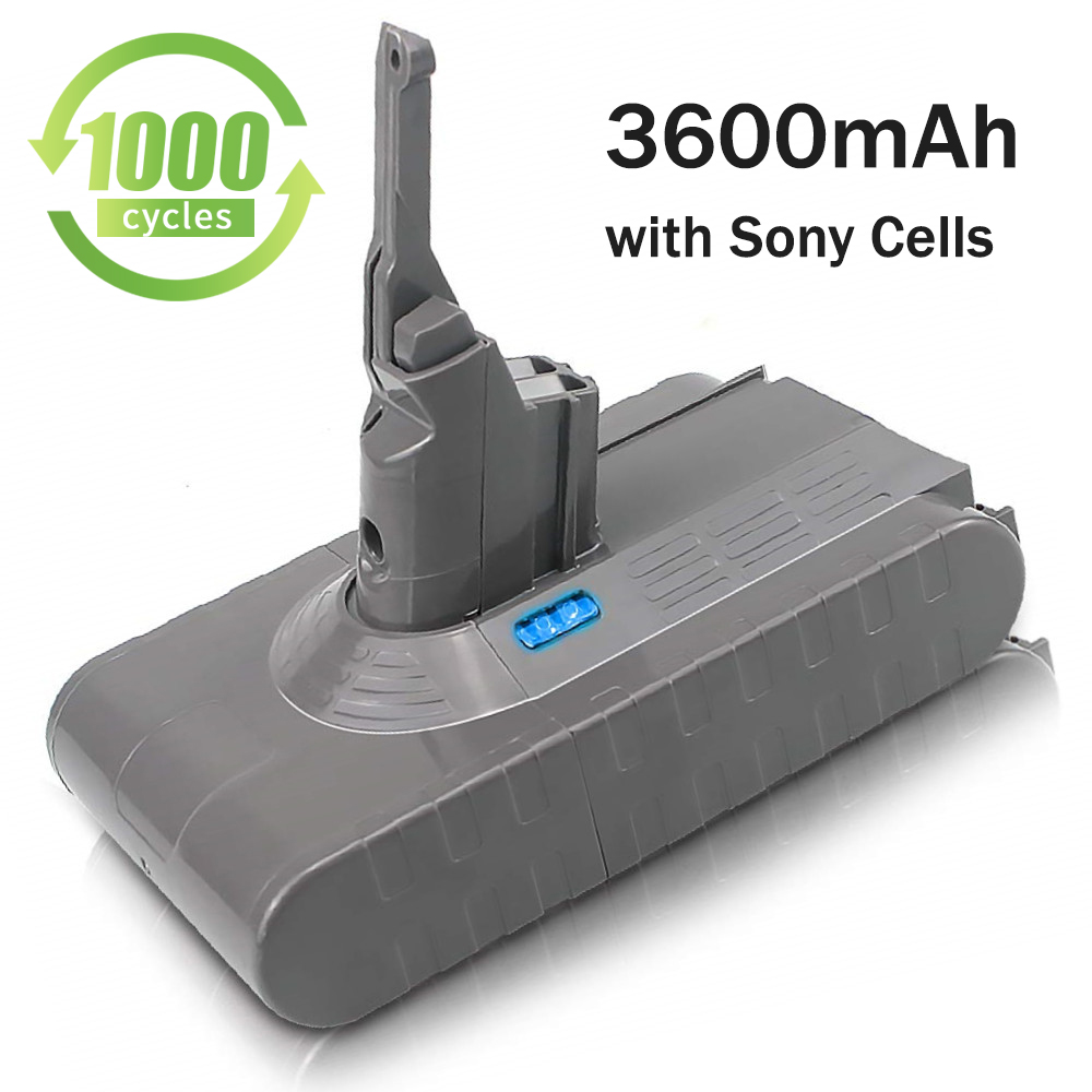 Sparkole 21.6V 3600mAh rechargeable Li-ion battery for dyson V8 Absolute, Fluffy, Animal Li-ion Vacuum Cleaner battery