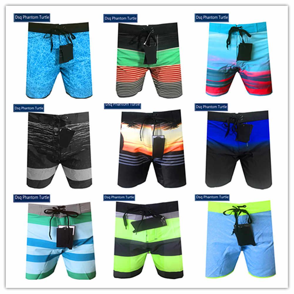 2020 bermuda marca elastano dos homens havaiano estiramento shorts dsq fantasma tartaruga praia boardshorts homem elástico roupa de banho 100% secagem rápida
