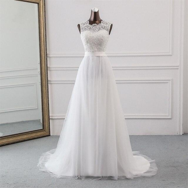 New Applique wedding dress formal robe mariage Vestidos de Novia bridal dress vestido de festa Beach wedding dresses 2