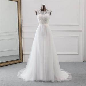 Image 2 - 새로운 Applique 웨딩 드레스 정장 가운 mariage Vestidos 드 Novia 신부 드레스 vestido 드 페스타 비치 웨딩 드레스