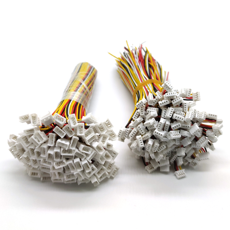 100 Pair Micro <font><b>JST</b></font> <font><b>1.25</b></font> 4-Pin <font><b>Male</b></font> and <font><b>Female</b></font> Connector plug with Wires Cables image