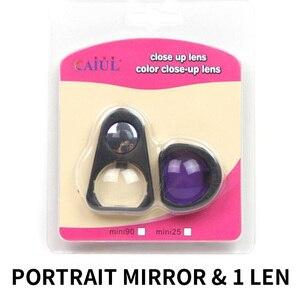 Image 2 - Набор объективов Instax Mini Close Up с зеркалом для селфи и цветным фильтром для камеры моментальной печати Fujifilm 90