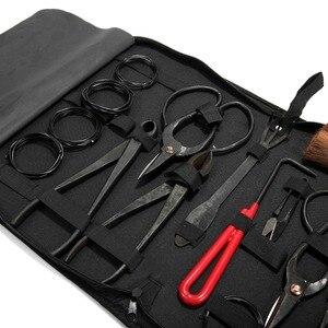 Image 4 - Conjunto de ferramentas de alta qualidade bonsai multi função bonsai kit 14 peças conjunto de tesoura de aço carbono e kit de ferramentas/rolo fios