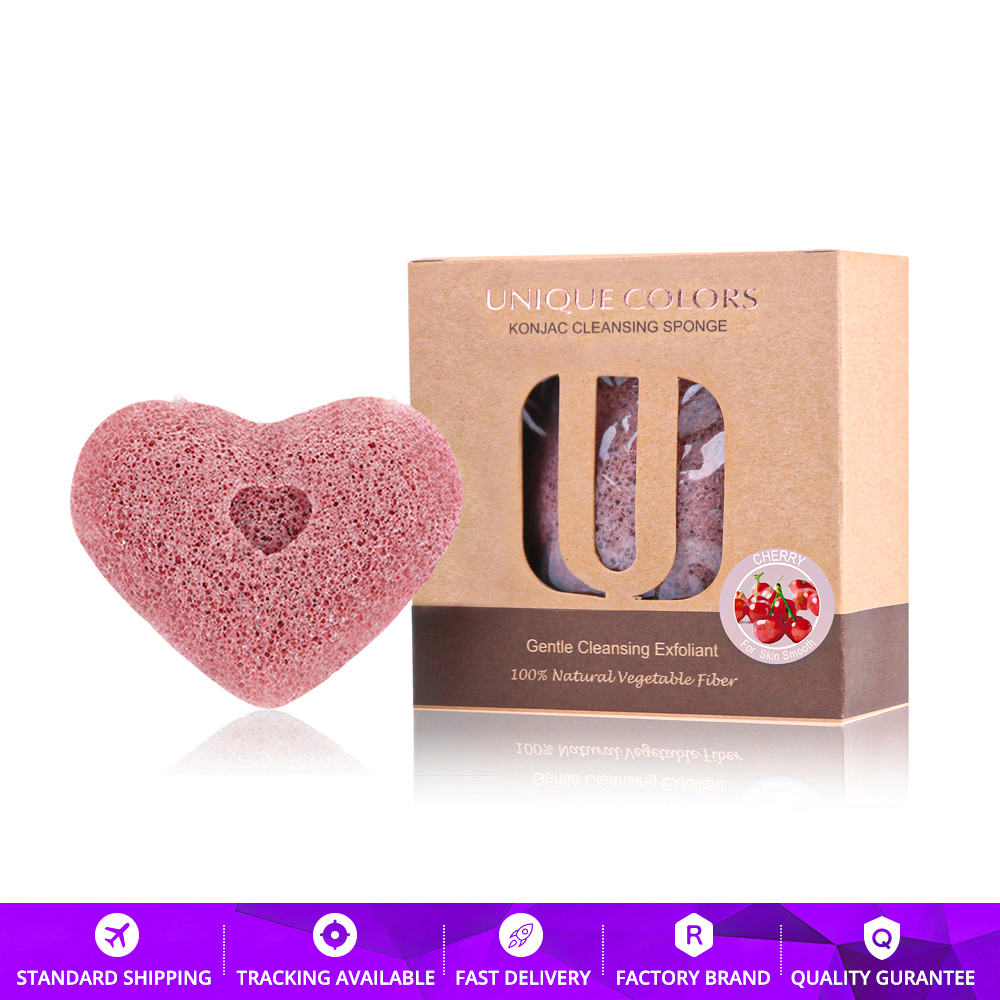 Heart Facial Exfoliating Cleansing Cleaner Sponge For Washing 100