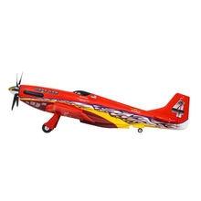 FMS 1100 мм спортивная версия гоночной машины P51 Mustang, электрическая сборка, модель самолета с дистанционным управлением и фиксированным крылом