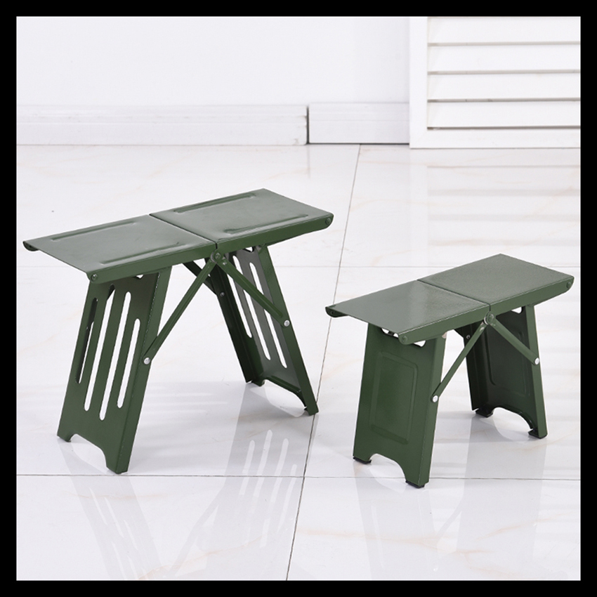Mini Steel Portable Folding Camping Stool Chair For Outdoor Fishing Hiking Backpacking- Small: 29x13x20cm, Large: 35x16x27cm