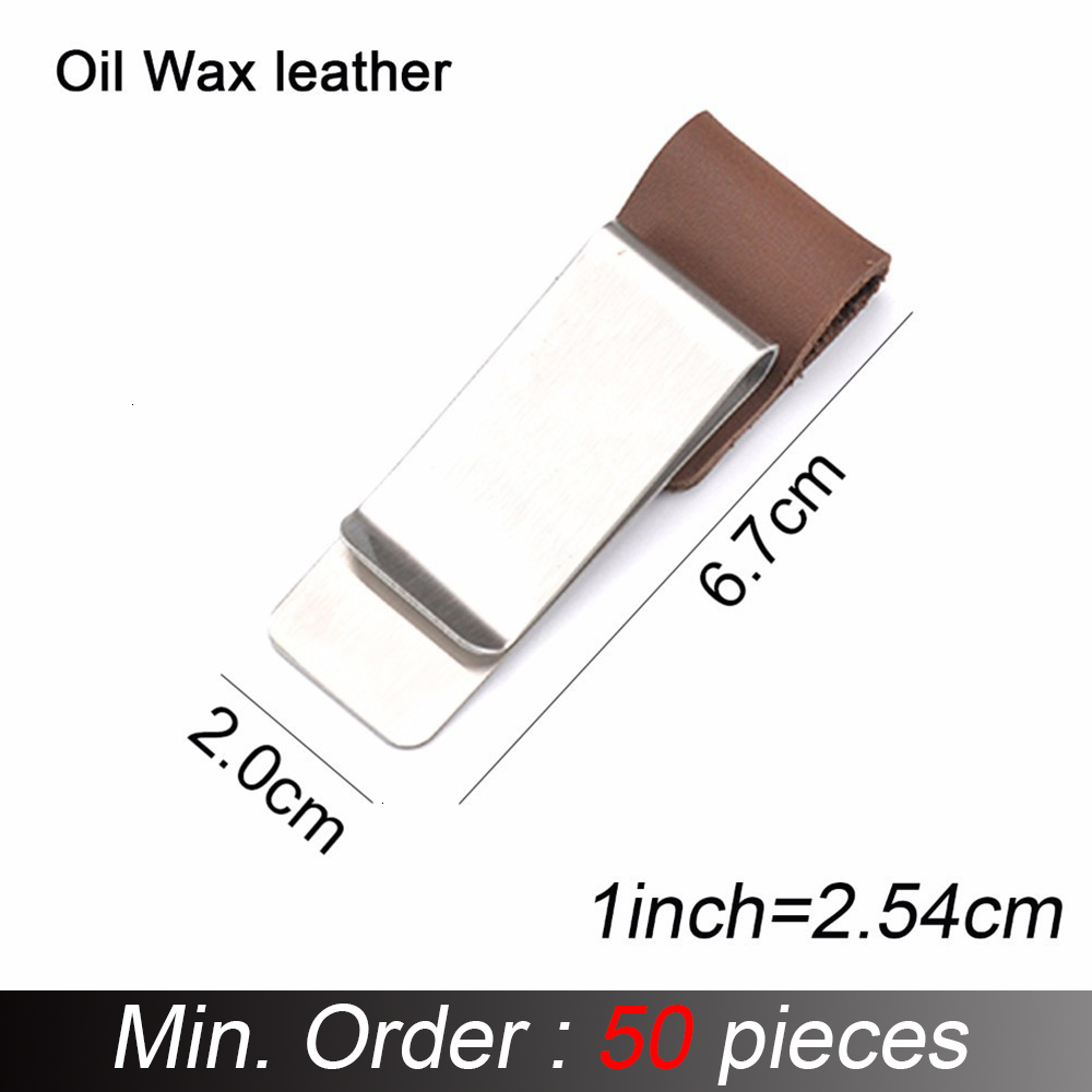 50 Pieces / Lot Genuine Leather Pen Holder Brass And Stainless Steel Clip For Travel Journal Diary Notebook Accessory