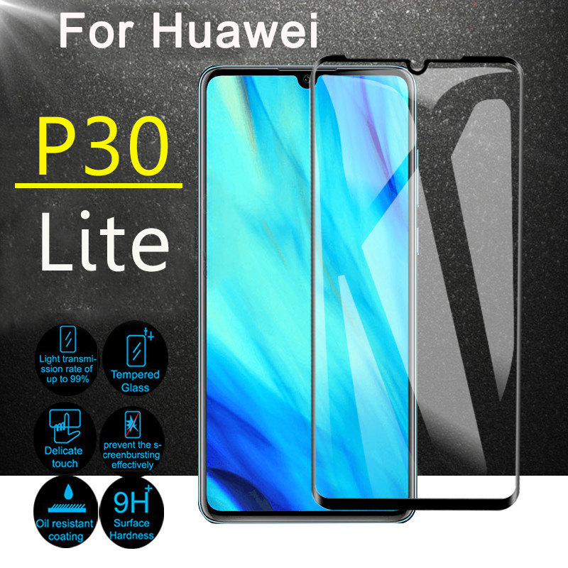 Protective glass on for huawei p30 lite Tempered glas p 30 light armor screenprotector huawey huavei hauwei p30lite 30p film 9h