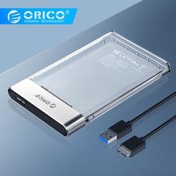 ORICO HDD Case New 2.5 pollici Trasparente Aggiungere Metallo SATA a USB 3.0 Caso del Disco Rigido Strumento di Trasporto 6Gbps supporto 4TB Caso UASP Box Hd